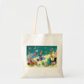 Monsters on the Beach Tote Bag