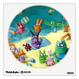 Monsters on the Beach Wall Decal