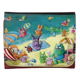 Monsters on the Beach Wallets