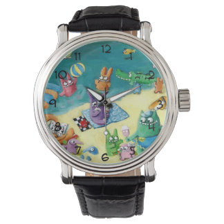 Monsters on the Beach Wristwatch