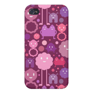 Monsters on the Loose! - Pinks Cover For iPhone 4