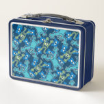 Monsters Pattern Metal Lunch Box