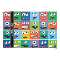 Monsters Pattern Monster Faces Personalized Kids Pillow Case