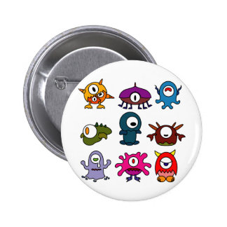Monsters Pinback Button