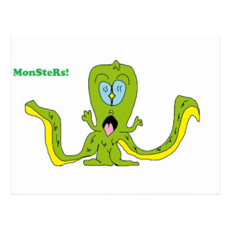 MonSteRs! Postcard