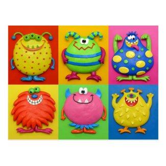 Monsters Postcard
