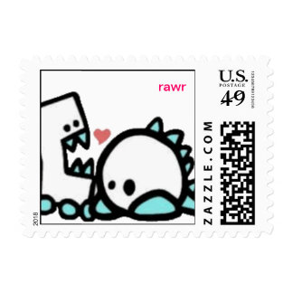 monsters, rawr postage