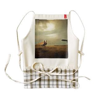 Monsters swimming ashore zazzle HEART apron