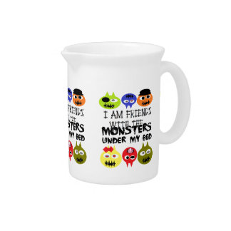 Monsters Under Bed Pitcher
