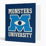 Monsters University Blue Logo 3 Ring Binders