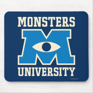 Monsters University Blue Logo Mouse Pad