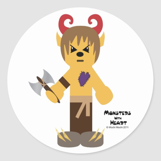 Monsters with Heart series Classic Round Sticker