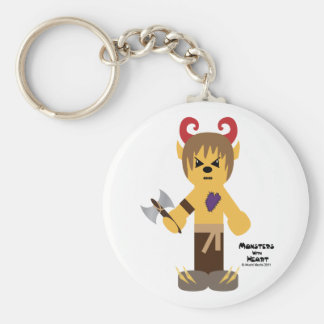 Monsters with Heart series Basic Round Button Keychain