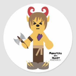 Monsters with Heart series Round Sticker