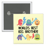 Monsters World Best Big Brother 2 Inch Square Button