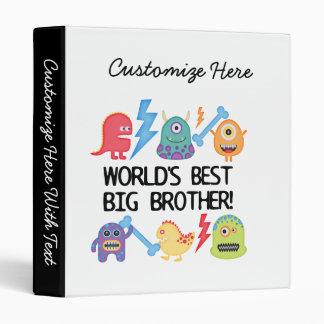 Monsters World Best Big Brother 3 Ring Binder