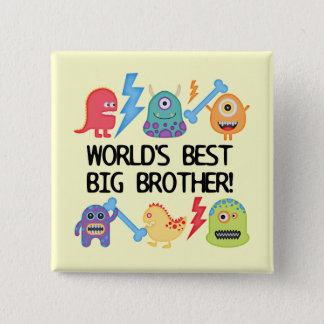 Monsters World Best Big Brother Button Zazzle_button