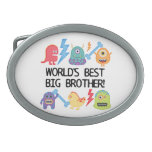 Monsters World's Best Big Brother Oval Belt Buckles