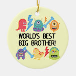 Monsters World's Best Big Brother Ornament