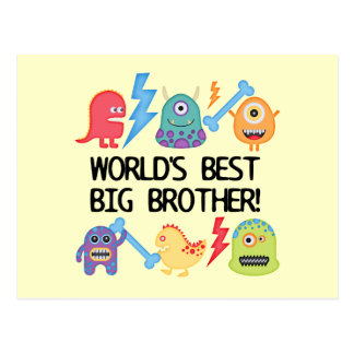Monsters World's Best Big Brother Postcard