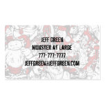 Monsters & Zombies Cartoon Characters Business Card Templates