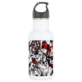 Monsters & Zombies Cartoon Characters Water Bottle