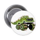 Monstersaurus Truck 2 Inch Round Button