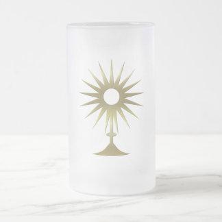 Monstrance eucarístico taza de cristal