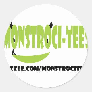 Monstroci-Camisetas Pegatina Redonda