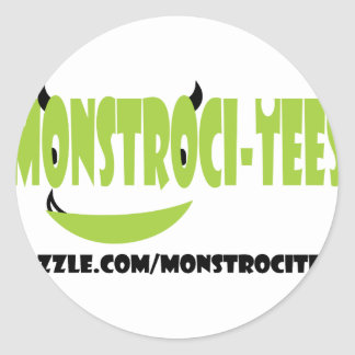 Monstroci-Tees Classic Round Sticker