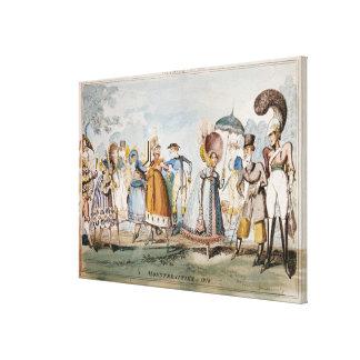 Monstrosities of 1818 gallery wrap canvas
