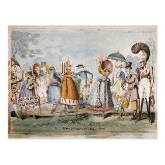 Monstrosities of 1818 postcard