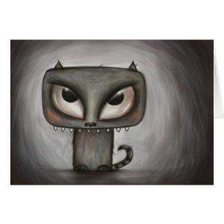 Monstrous kitty card