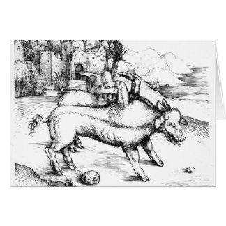 Monstrous Pig Card
