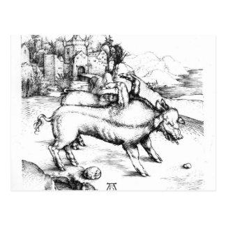 Monstrous Pig Postcard