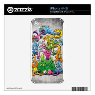 Monstrously Messy iPhone 4 Skins