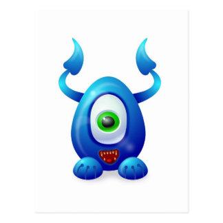 Monstruo 2 tarjetas postales