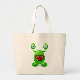 Monstruo 3 bolsas lienzo