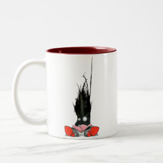 Monstruo 4 de la oficina taza de café de dos colores