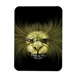 Monstruo amarillo con los dientes grandes iman rectangular