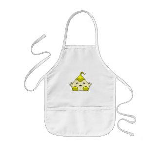 Monstruo amarillo de las cosquillas de Kawaii Delantal Infantil