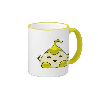 Monstruo amarillo de las cosquillas de Kawaii Taza A Dos Colores