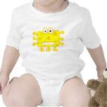 Monstruo amarillo lindo del dibujo animado traje de bebé