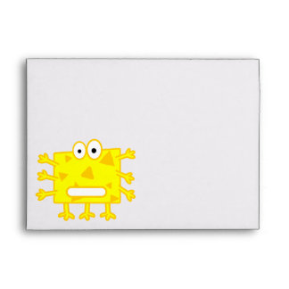 Monstruo amarillo lindo del dibujo animado
