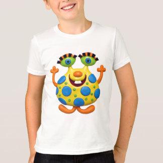 Monstruo amarillo manchado azul camisas
