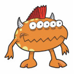 monstruo anaranjado del mohawk muchos ojos esculturas fotográficas