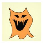 Monstruo anaranjado invitación personalizada