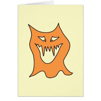 Monstruo anaranjado tarjeta de felicitación