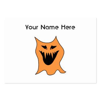 Monstruo anaranjado tarjetas de visita grandes