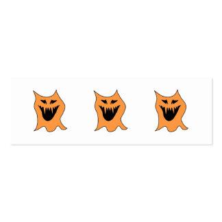 Monstruo anaranjado tarjetas de visita mini